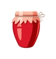 Strawberry jam glass jar icon cartoon style vector image