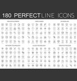 180 modern thin line icons set of web development vector image vector image