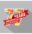 77th Years Anniversary Celebration Design vector image