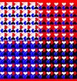 a set of squares in the heart vector image