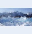abstract irregular polygonal background mountains vector image vector image