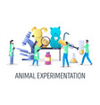 animal experimentation concept for web vector image