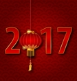 Background for 2017 New Year with Chinese Lantern vector image vector image