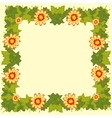 Background with flower and sheet tree vector image vector image