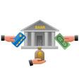 bank earnings vector image vector image