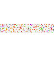 banner confetti and serpentine vector image