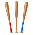 Baseball bat vector image vector image