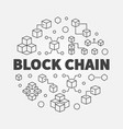 block chain cryptocurrency round outline vector image vector image