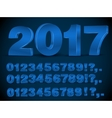 Blue numbers vector image
