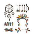 boho collection with arrows vector image vector image