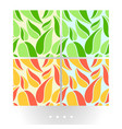bright abstract seamless patterns vector image vector image