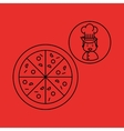 cartoon chef gourmet pizza italian vector image vector image