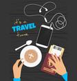 cartoon flat travel banner vector image vector image