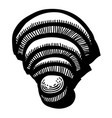 cartoon image of wifi icon wireless network vector image