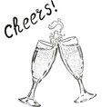 cheers champagne glasses drink vector image vector image