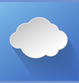 cloud icon over the sky vector image vector image