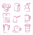 Coffe icons vector image vector image