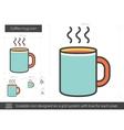 Coffee mug line icon vector image