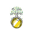 coin tree growth root crypto currency logo icon vector image