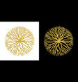 concept gold glitter tree branch circle symbol vector image vector image