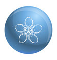 cosmetic flower icon simple style vector image vector image