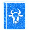 cow book icon grunge watermark vector image vector image