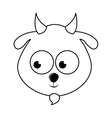 cute goat character isolated icon design vector image vector image