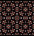 daisy flower geometric circle pattern vector image vector image