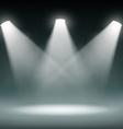 Dark room Stock vector image vector image