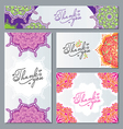 different forms decorated with ornaments and vector image vector image