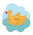 duck ring inflatable rubber vector image vector image
