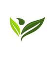 eco life healthy vector image vector image