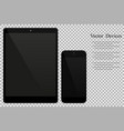 electronic devices isolated on background tablet vector image