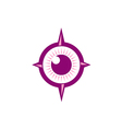 eye ball abstract target logo vector image vector image