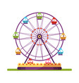 ferris wheel spinning flat isolated vector image