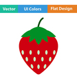 Flat design icon of Strawberry vector image vector image