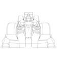 formula race car abstract drawing tracing vector image vector image