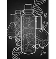 Graphic fetus in the glass bottle vector image vector image