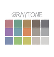 Graytone Color Tone without Code vector image vector image