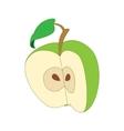Half apple icon cartoon style vector image vector image
