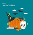 happy halloween flat style design vector image