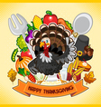 Happy Thanksgiving Turkey vector image vector image