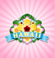 hawaiian document background in polynesian style vector image vector image