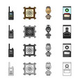 history attributes tourism and other web icon in vector image vector image