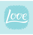 love for logotype flyer banner vector image