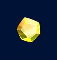 magic crystal rock yellow color gem stone vector image vector image