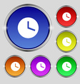 Mechanical Clock icon sign Round symbol on bright vector image vector image