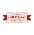 merry christmas emblem isolated on white vector image vector image