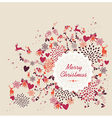 Merry Christmas label text retro elements file vector image vector image
