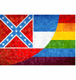 mosaic mississippi and gay flags vector image vector image